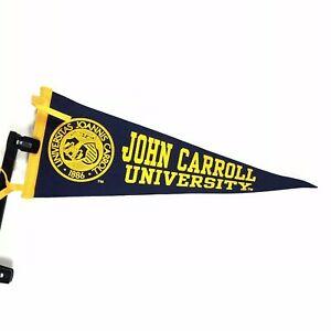 Details about Vintage John Carroll University Pennant Felt College  Memorabilia.