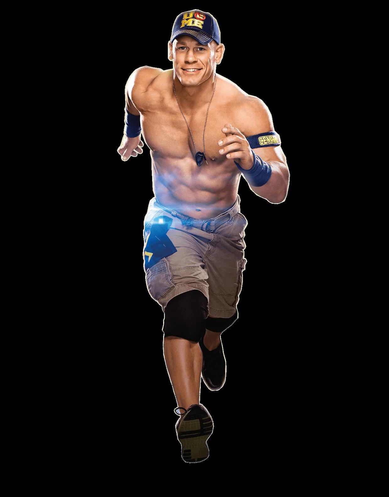 John Cena Running Fast transparent PNG.