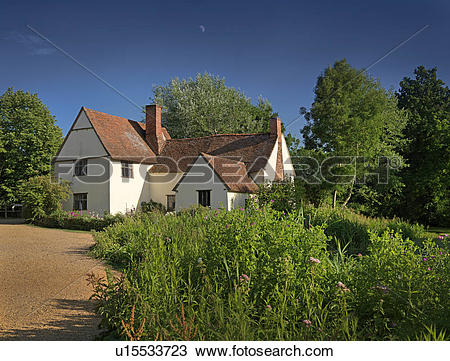 Stock Photo of England, Suffolk, Flatford. Willy Lott's Cottage, a.