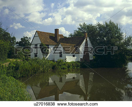 Pictures of England, Suffolk, Flatford, Willy Lot's Cottage, made.