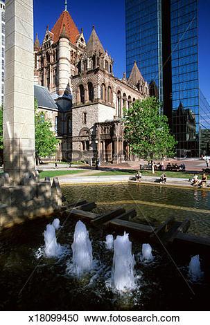Stock Photography of USA, Massachusetts, Boston, Trinity Church.