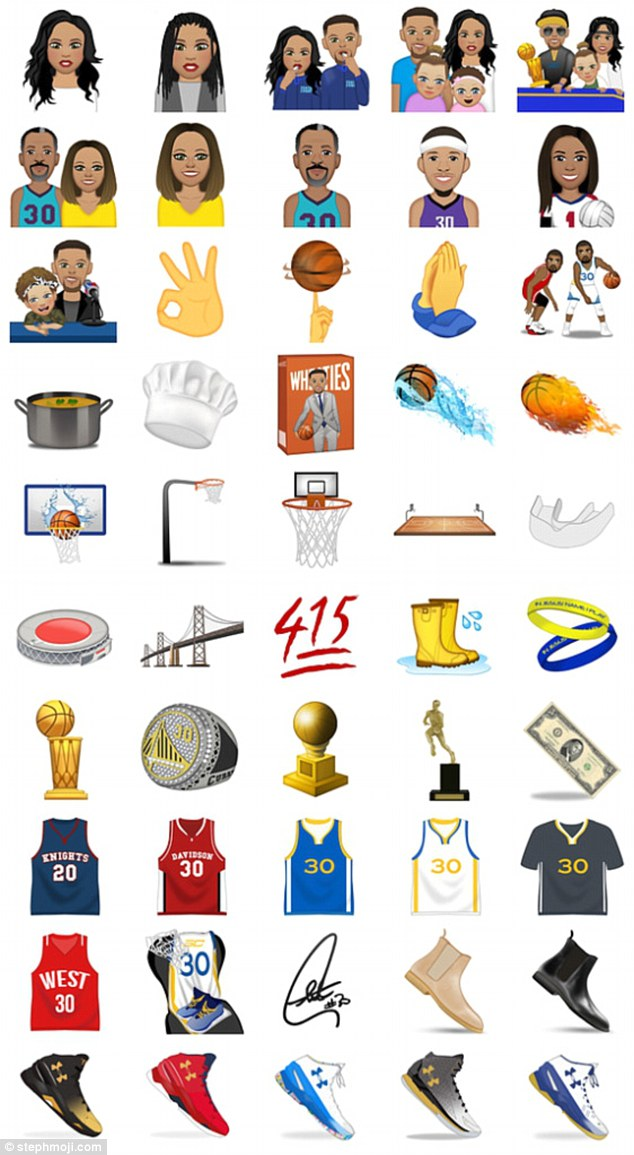 Golden State Warriors' Steph Curry releases emoji app including.