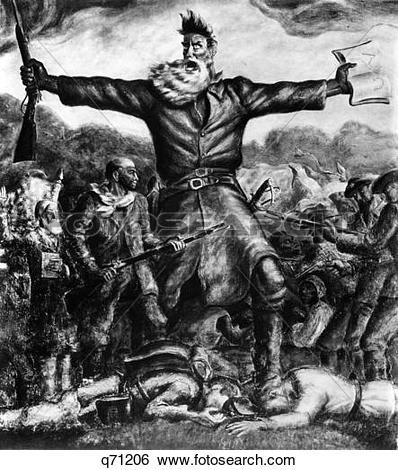 Stock Images of 1800S 1850S John Brown As Hero Of Bleeding Kansas.