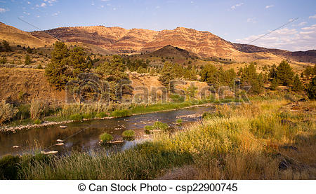 Stock Photo of Squaw Creek Butler Basin John Day Fossil Beds.