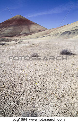 Stock Photo of John Day Fossil Beds NM Painted Hills Oregon.