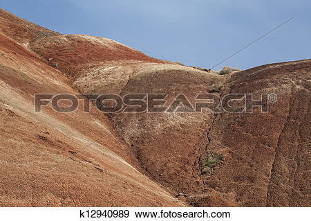 Stock Photograph of Detail, Painted Hills Unit, John Day National.