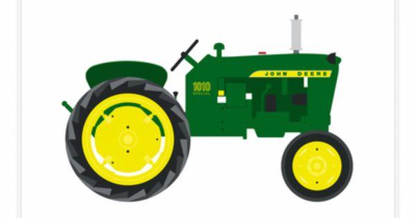 John Deere 1010 Tractor Art Print.