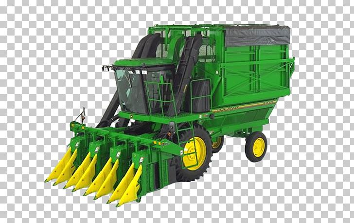 John Deere Machine Cotton Picker Combine Harvester PNG, Clipart.