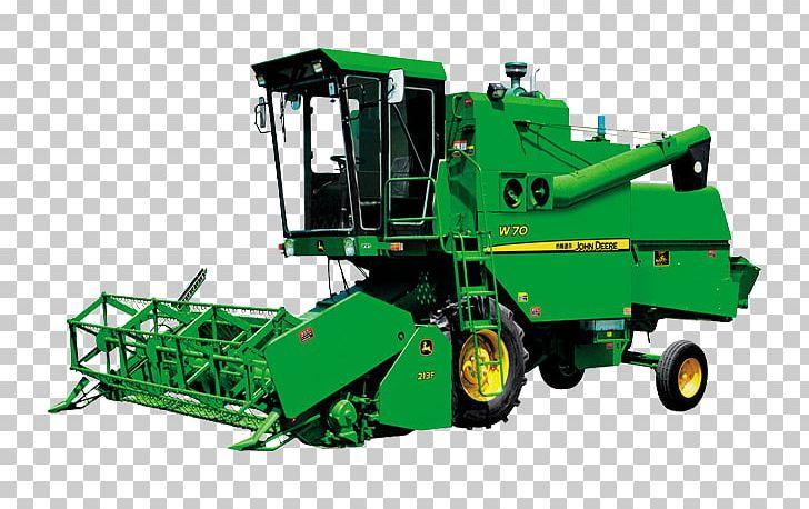 John Deere Combine Harvester Tractor PNG, Clipart, Agricultural.