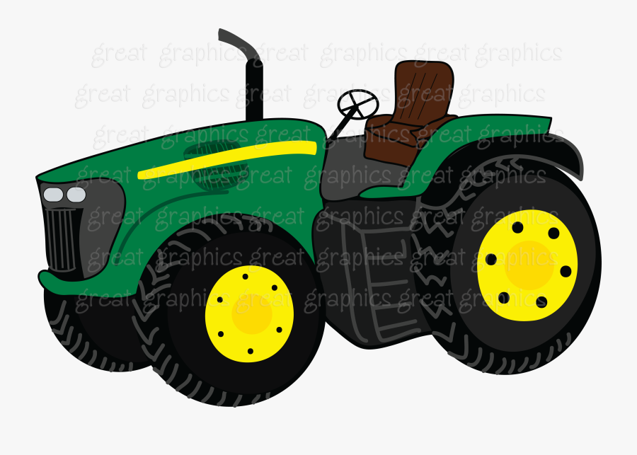 John Deere Tractors Girls And Black On Clip Art.