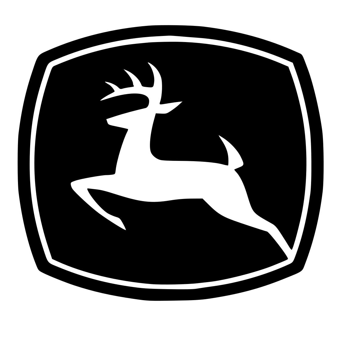 John Deere Logo Silhouette.