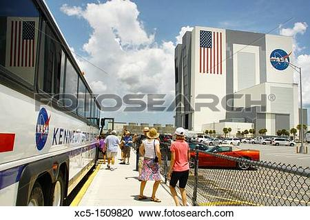 Stock Photography of NASA, John F Kennedy Space Center, Cape.