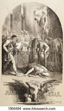 Stock Photo of Illustration By Sir John Gilbert For Julius Caesar.
