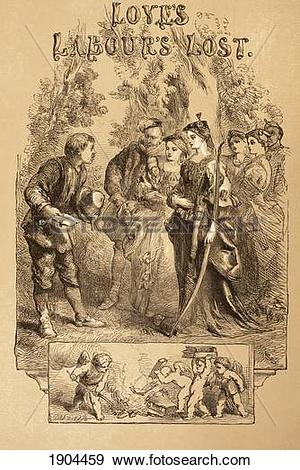 Stock Photograph of Illustration By Sir John Gilbert For Love's.