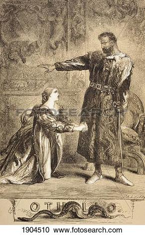 Stock Photography of Illustration By Sir John Gilbert For Othello.