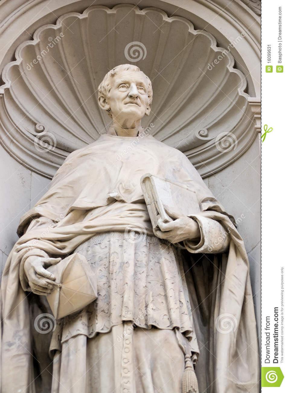 Cardinal John Henry Newman Statue Stock Image.