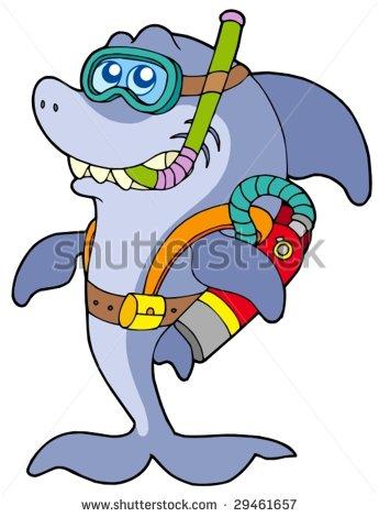 Vector Illustration Cartoon Herring Fish Business Stock Vector.