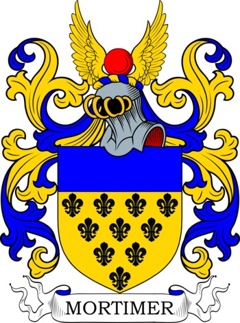 Mortimer Coat of Arms Meanings and Family Crest Artwork.
