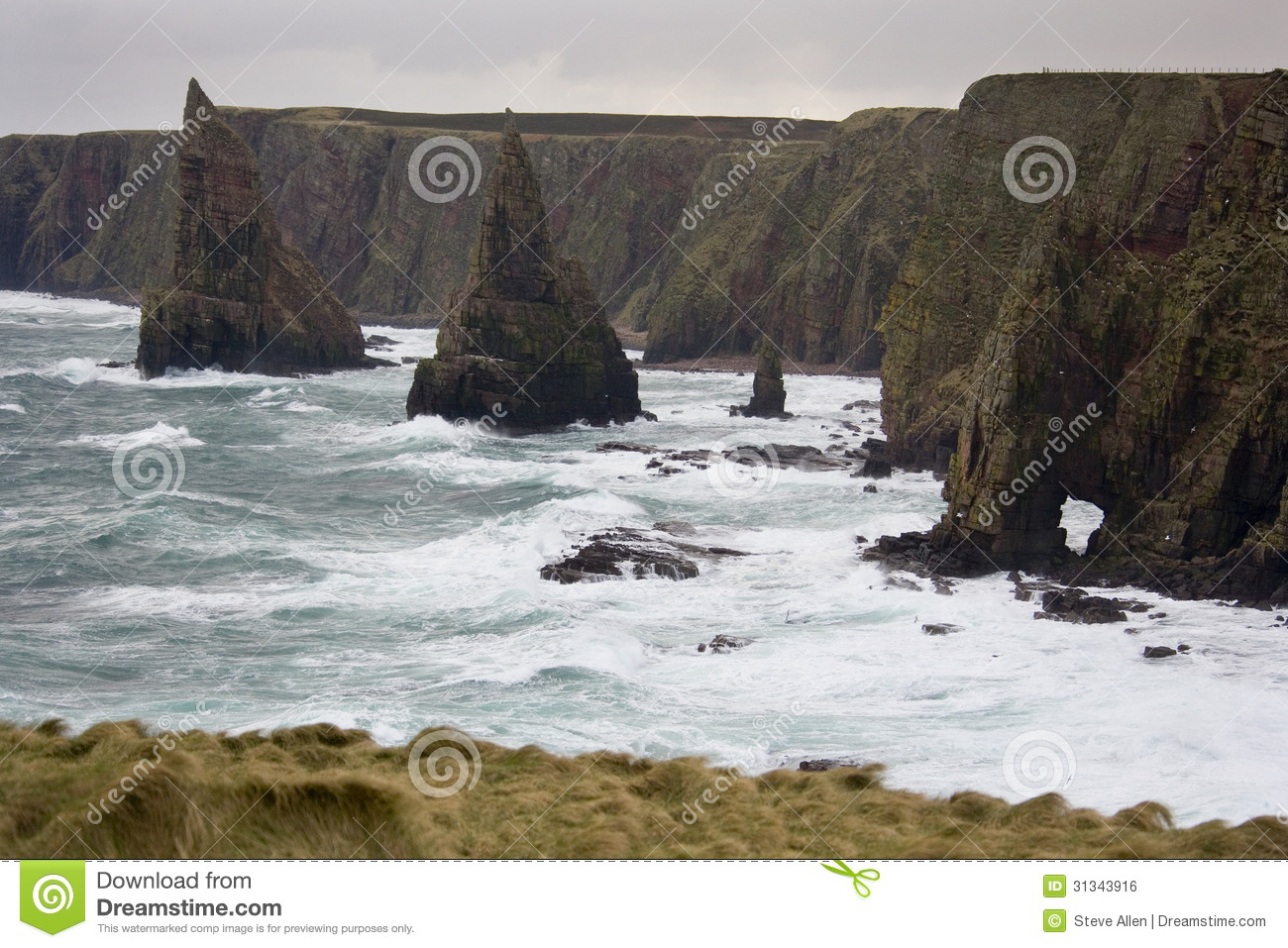 Rough Sea.