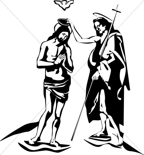 Jesus and John the Baptist.