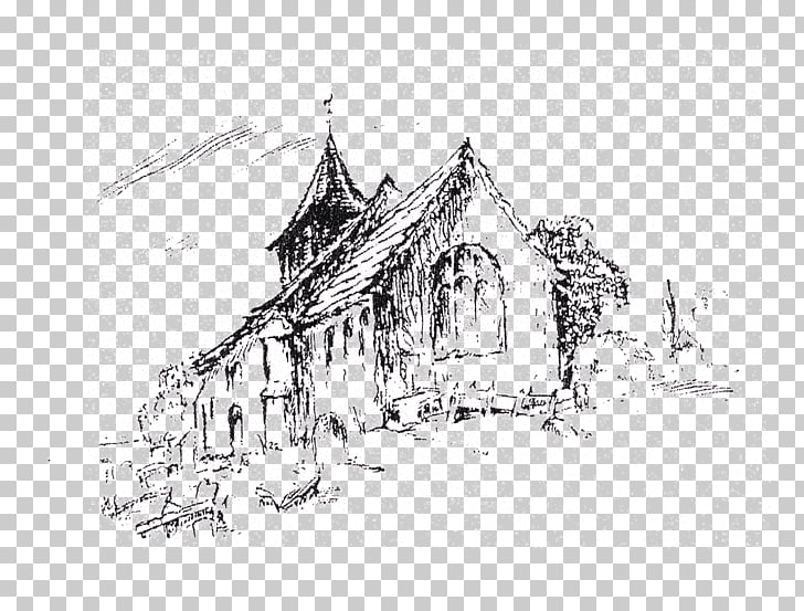 Line art Building Sketch, St John The Baptist Day PNG.