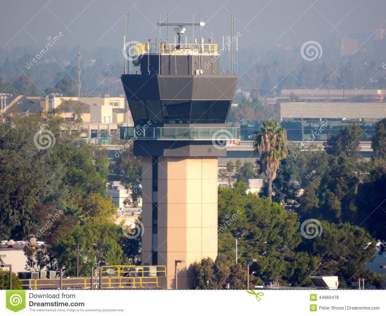 John Wayne Airport Control Tower Stock Photo.