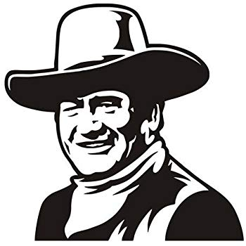 John Wayne v4 Decal Sticker.