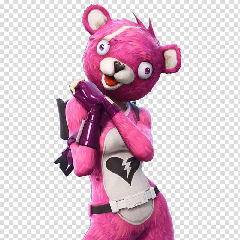 Pink bear costume, Fortnite Battle Royale Portable Network.