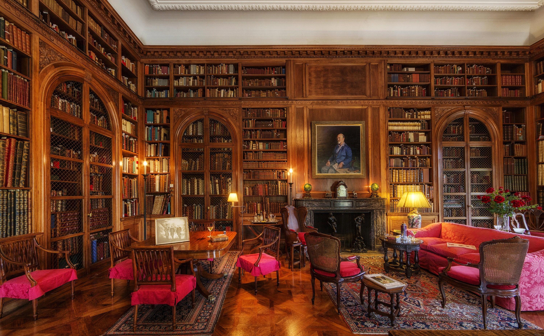 Interior of John Work Garrett Library in Baltimore, Maryland.