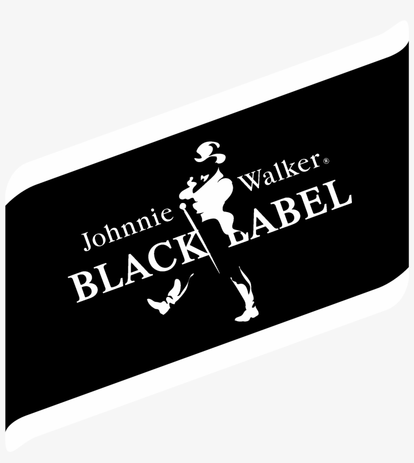 Johnnie Walker Black Label Logo Black And White.