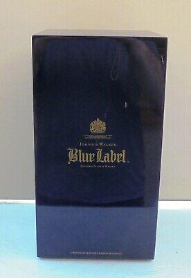 JOHNNIE WALKER BLUE Label Scotch Collectible Double Box.