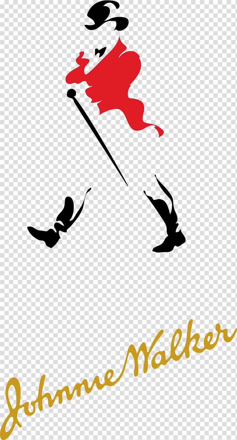 Johnnie Walker logo illustration, Blended whiskey Scotch.