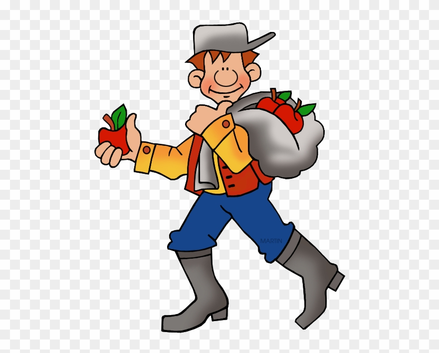 Johnny Appleseed Free Clipart.