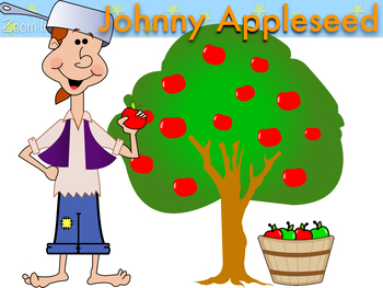 Fall Apples and Johnny Appleseed Clip Art.