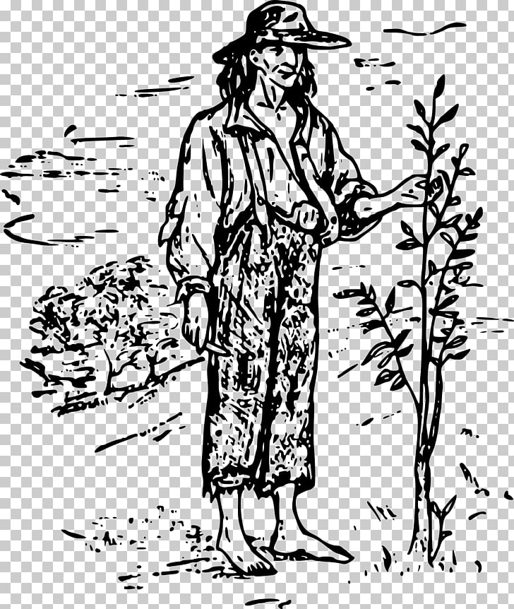 United States , johnnyappleseed PNG clipart.