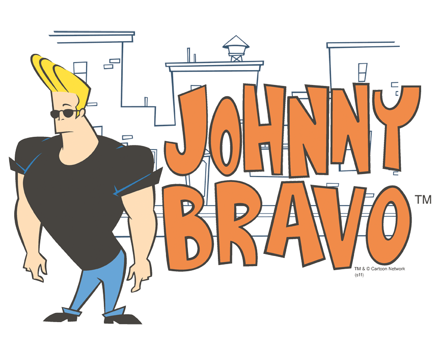 Johnny Bravo Johnny Logo Baby Bodysuit.