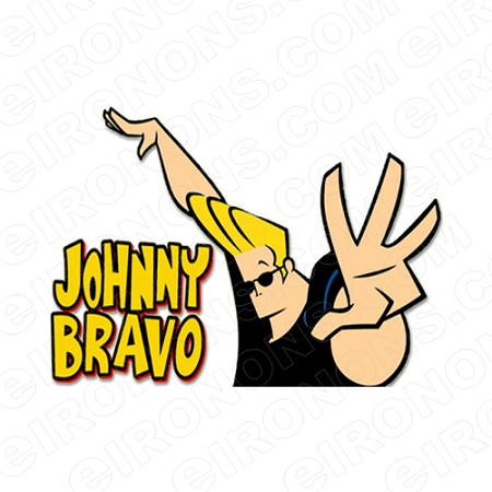 JOHNNY BRAVO AND LOGO CHARACTER T.
