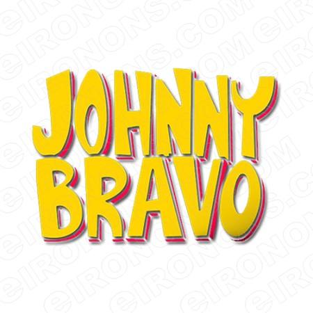 JOHNNY BRAVO LOGO YELLOW ORANGE CHARACTER T.