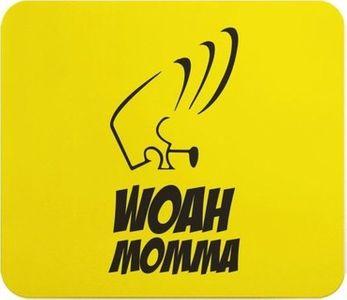 Loud Universe Johnny Bravo Woah Momma Printed Mousepad Yellow Black.
