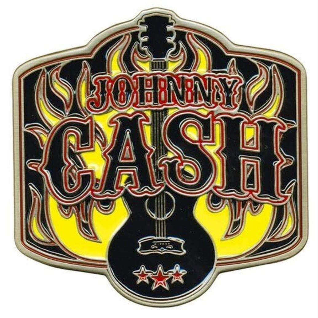 Johnny Cash Logo Metal Enamel Belt Buckle.