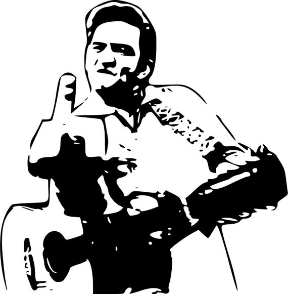 Johnny cash clipart.