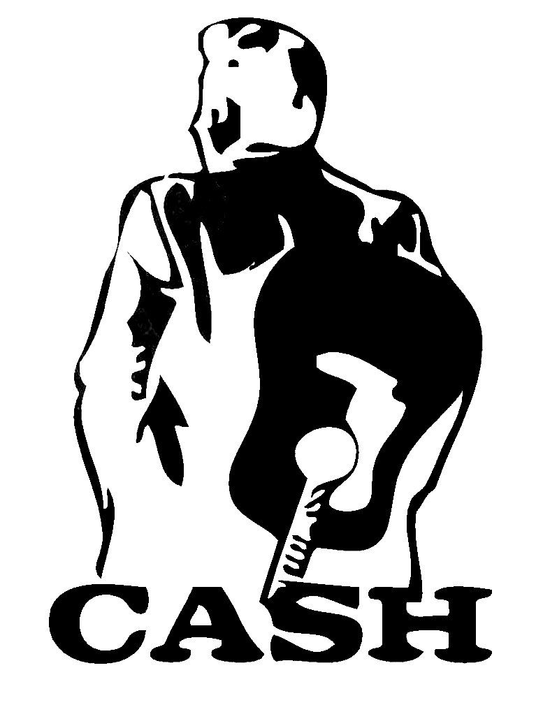 Johnny Cash Silhouette Clipart.