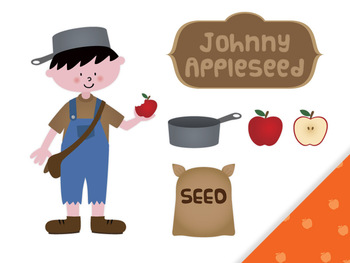 FREE Johnny Appleseed clip art by Lita Lita.