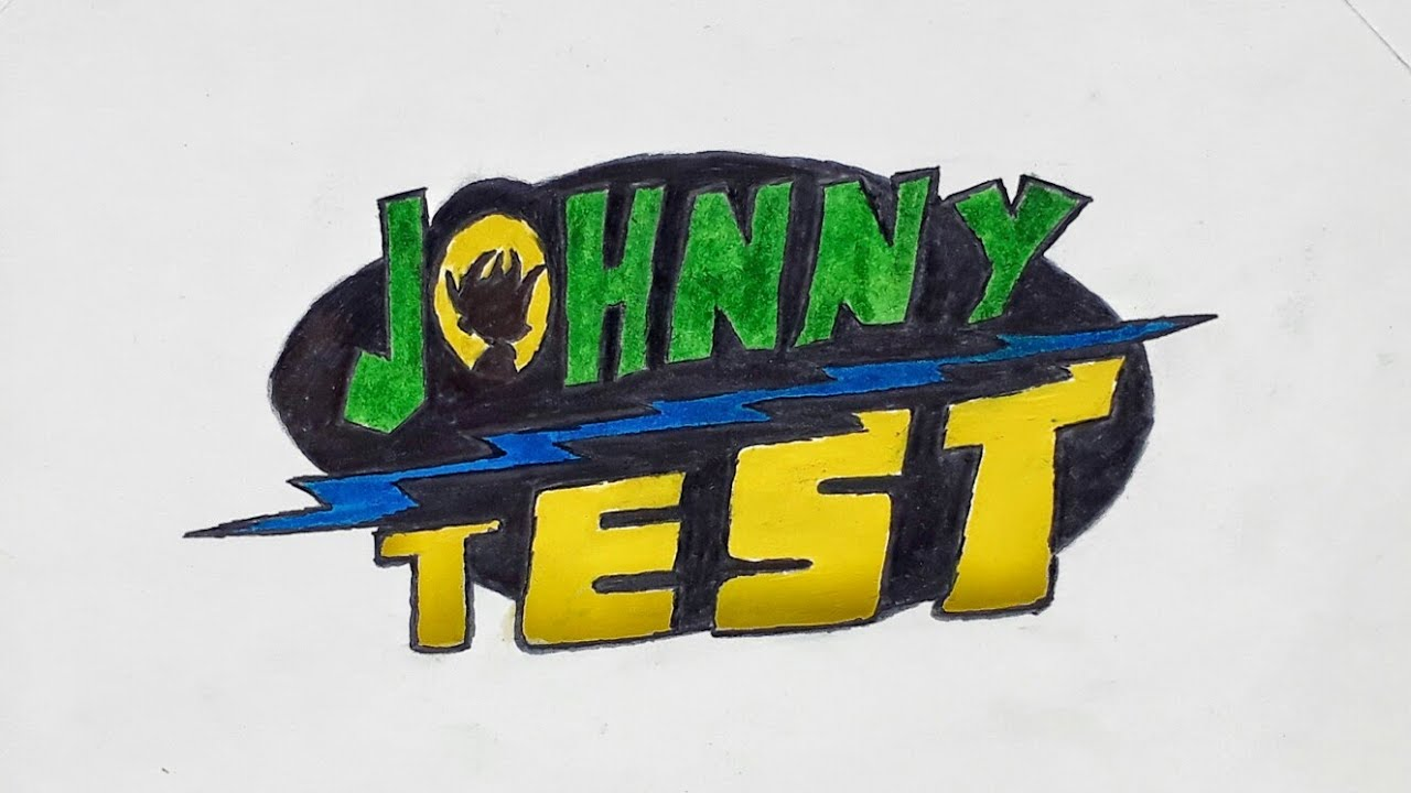 How to draw the Johnny Test cartoon logo.