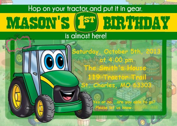 17 Best images about Johnny Tractor 1st birthday party on.