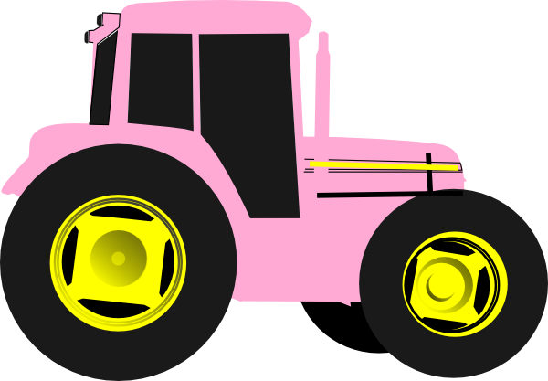 Pink Tractor Clipart.