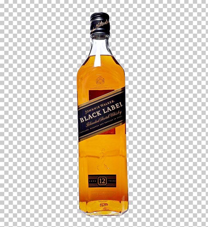Scotch Whisky Blended Whiskey Johnnie Walker Black Label PNG.