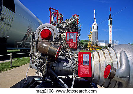 Pictures of Rocket engines, Johnson Space Center, Houston Texas.