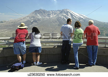 Stock Photography of Mount St. Helens National Volcanic Monument.