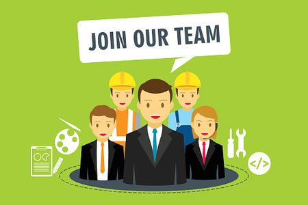 Join our team in company Clipart Image.